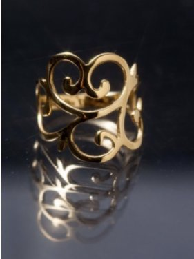 K18 Arabesque Ring