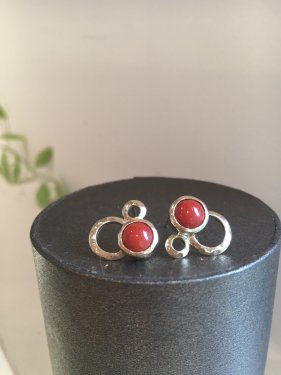 dell  pierce 〜red coral〜 (イヤリング変更可能)