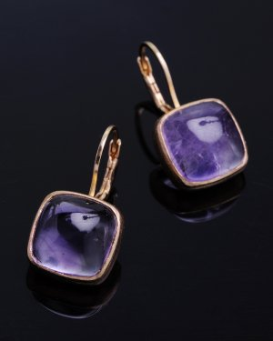 tova pierced earrings 〜amethyst〜(イヤリング変更可能)
