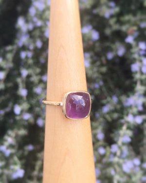 【1点物】K10  tova ring 〜amethyst〜