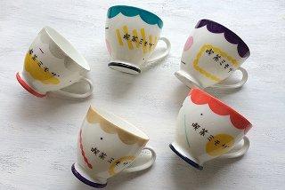 Subikiawa食器店 コーヒーカップ 喫茶ミモザ(シルバー、ブルー、パープル、ゴールド、レッド)