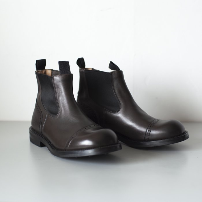 Quilp Shoes / M7702 Side Gore Boot / Espresso Burnished