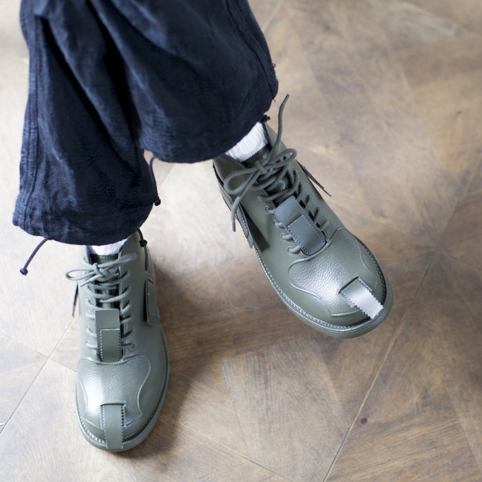 JOHN MOORE / Rubber Combat Boot / OLIVE