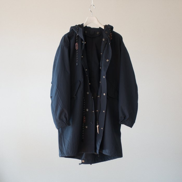 QUILP x SCiENCE / FISH TAIL PARKA / NAVY