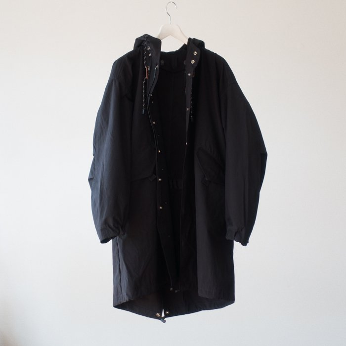QUILP x SCiENCE / FISH TAIL PARKA / BLACK