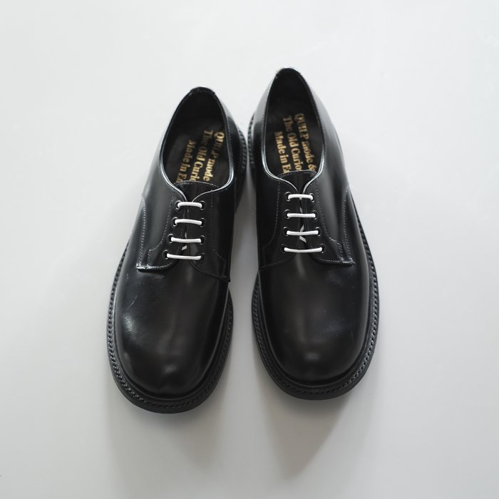 Quilp Shoes / 4 Tie Plain Shoe / BLACK
