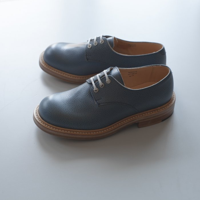 Quilp Shoes / M7351 Derby Plain Shoe / Denim Scotch Grain