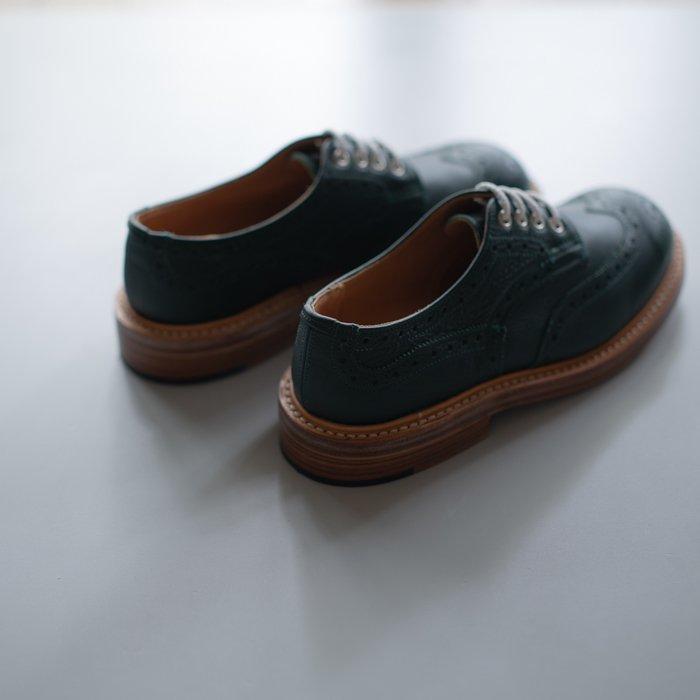 M7457 Derby Brogue Shoe / Green Olivvia Grain / UK6.5 in stock
