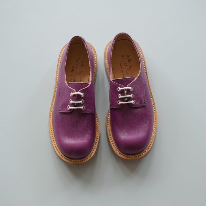 Quilp Shoes / M7351 Plain Derby Shoe / Purple Scotch Grain