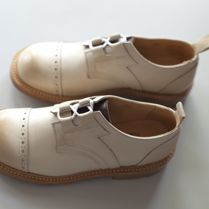 M7703 Punched Cap Ghillie Shoe / Off White Funchal x D.Brown Olivvia Deer / UK7.0 in stock