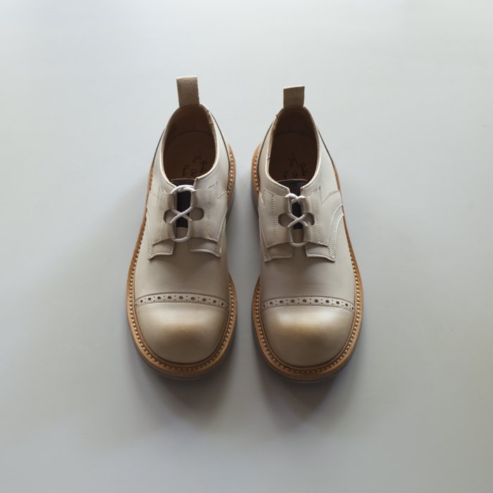 Quilp Shoes / M7703 Punched Cap Ghillie Shoe / Off White Funchal x D.Brown Olivvia Deer