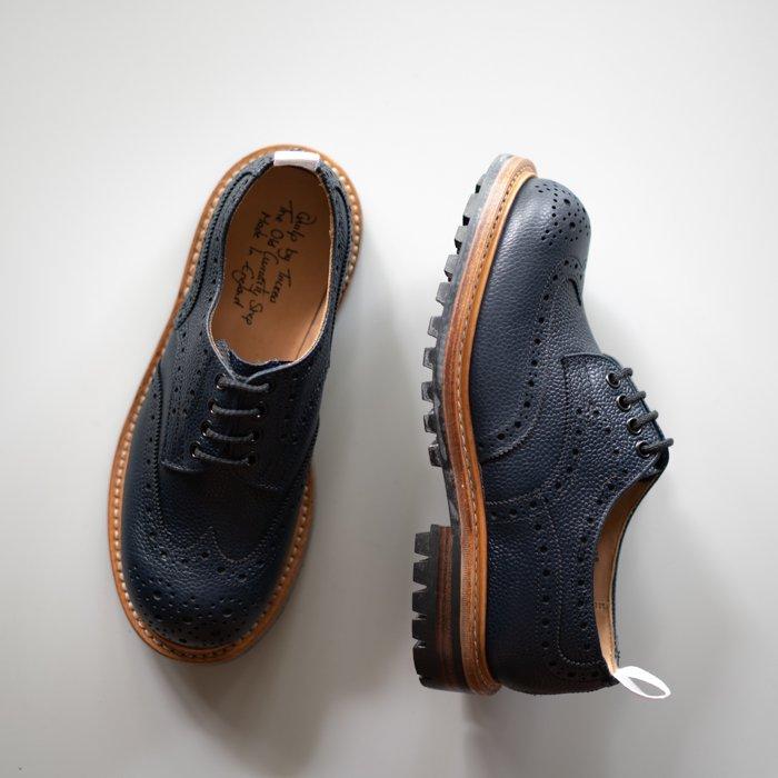 M7457 Derby Brogue Shoe / Navy Scotch Grain / UK9.0 in stock