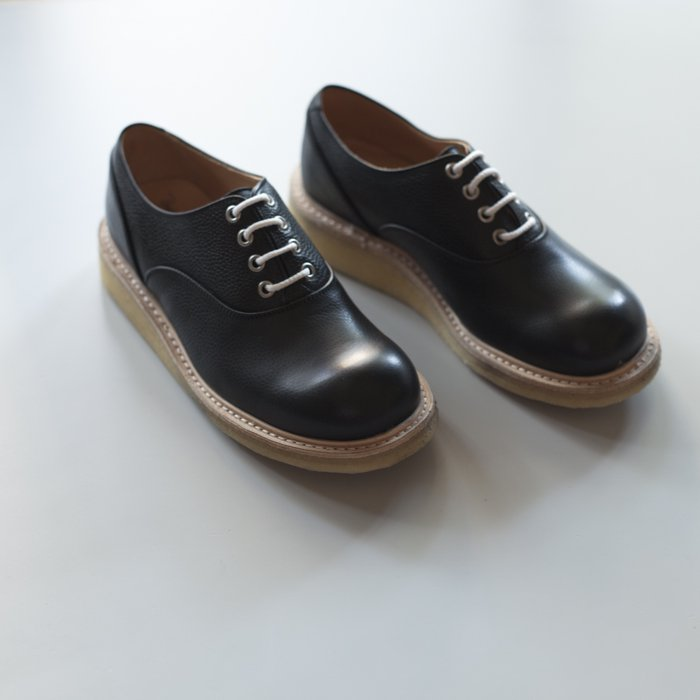 Quilp Shoes / M7674 Plain Oxford / Black Olivvia Scotch Grain