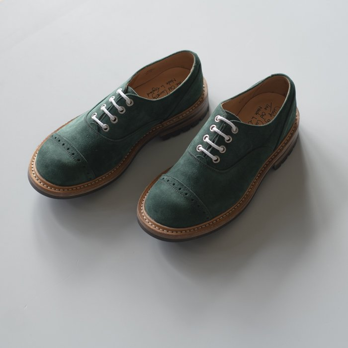 M7401 Oxford Shoe / GREEN Castorino Suede / UK6.0 in stock