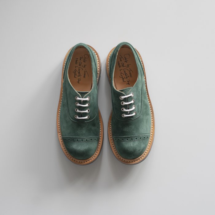 Quilp Shoes / M7401 Oxford Shoe / GREEN Castorino Suede