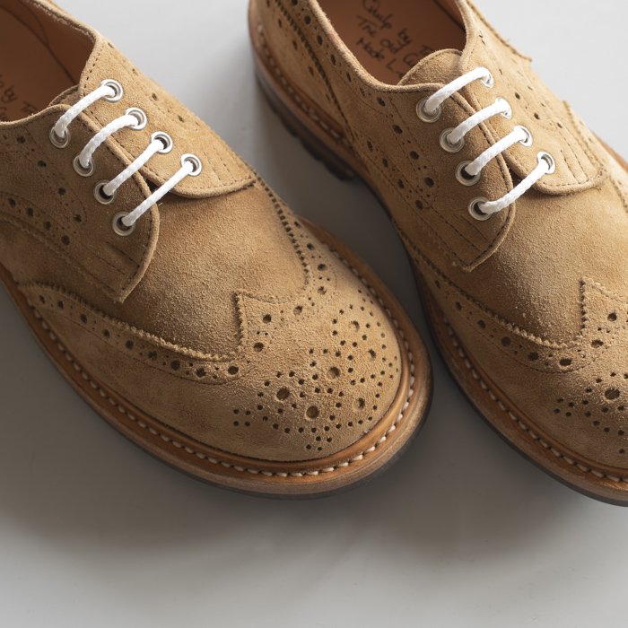 M7457 Derby Brogue Shoe / PEANUT Kudu / UK6.5, UK8.0 in stock