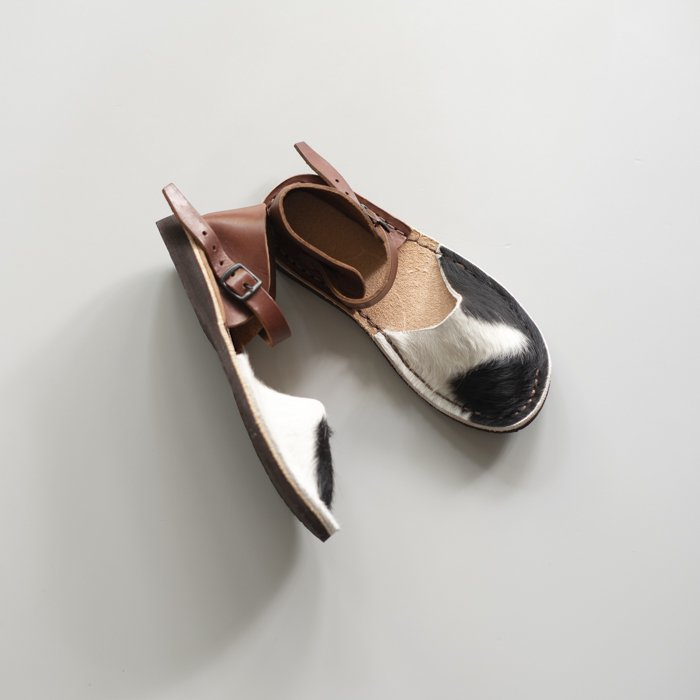 LA BAUME / ZAWRAT HAIRCALF / Brown Heel & Belt / EU35, EU39 in stock