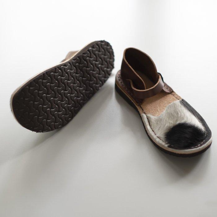LA BAUME / ZAWRAT HAIRCALF / Brown Heel & Belt / EU35 in stock