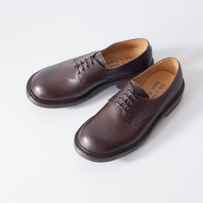 Quilp Shoes / M7351 Derby Plain Shoe / Scotch Grain Brown / 4eyelets