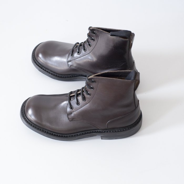 Quilp Shoes / M7496 Logger Boot / Cafe Burnished, D.Brown