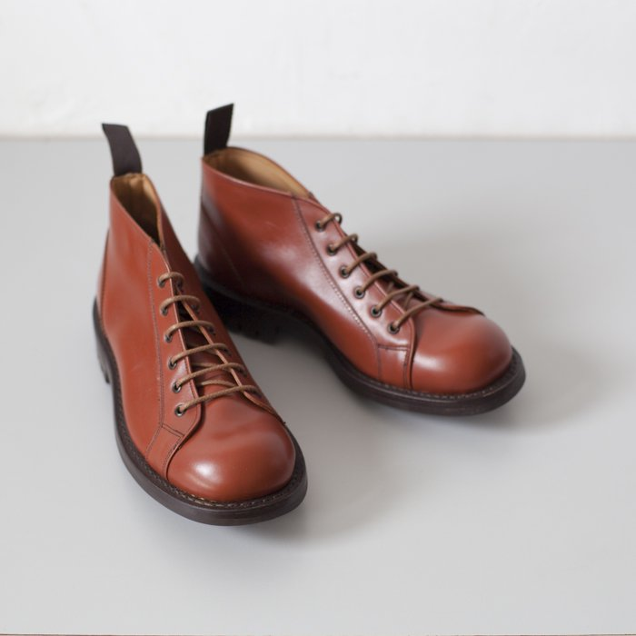 Quilp Shoes / M7350 Lace Up Boot / Moccasin Brown Aniline