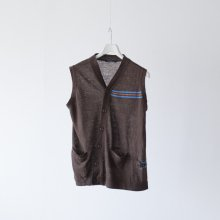 SHINYA NOMOTO / Asymmetry Vest / Brown