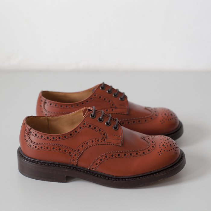 Quilp Shoes / M7457 Derby Brogue Shoe / Moccasin Brown Aniline