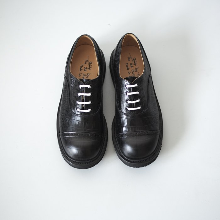 Quilp Shoes / M7401 Oxford Shoe / Black Croco