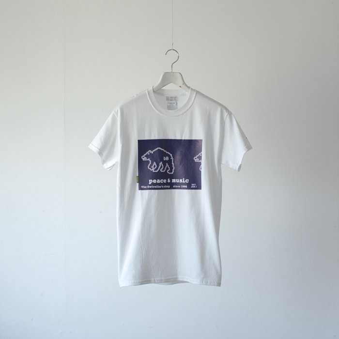 bitter Brown / The Swiveller's shop poster Tee / Cowchan Bear / WHITE x NAVY