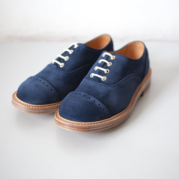 Quilp Shoes / M7401 Oxford Shoe / Navy Suede x Navy Calf (Tongue)