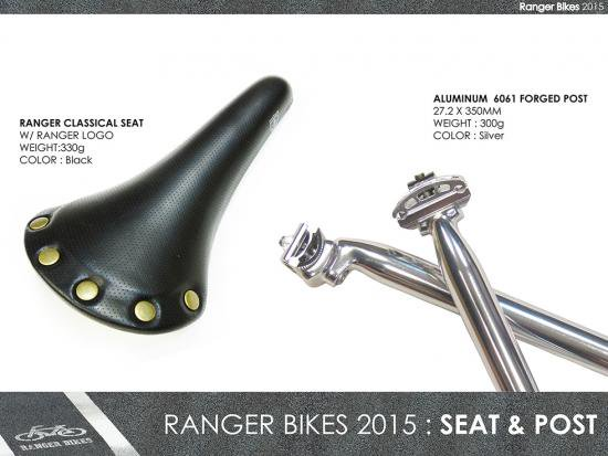 <img class='new_mark_img1' src='https://img.shop-pro.jp/img/new/icons25.gif' style='border:none;display:inline;margin:0px;padding:0px;width:auto;' />RANGER BIKES CLASSICAL SEAT W/RANGER LOGO