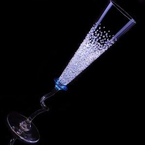 【シャンパングラス ババリア バブルシャワー】結婚祝い 誕生日 プレゼント ギフト スワロフスキー デコグラス