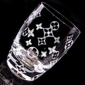 【タンブラー  モノグラム】 高級ギフトボックス付き 送料無料 結婚祝い 誕生日 プレゼント ギフト スワロフスキー デコグラス
