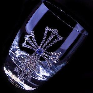 【タンブラー  クロス】 結婚祝い 誕生日 プレゼント ギフト スワロフスキー デコグラス