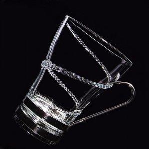 【マグカップ  螺旋】高級ギフトボックス付き   結婚祝い 誕生日 プレゼント ギフト スワロフスキー デコグラス