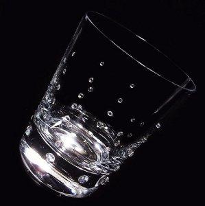 【ロックグラス バブル】 高級ギフトボックス付き 結婚祝い 誕生日 プレゼント ギフト スワロフスキー デコグラス