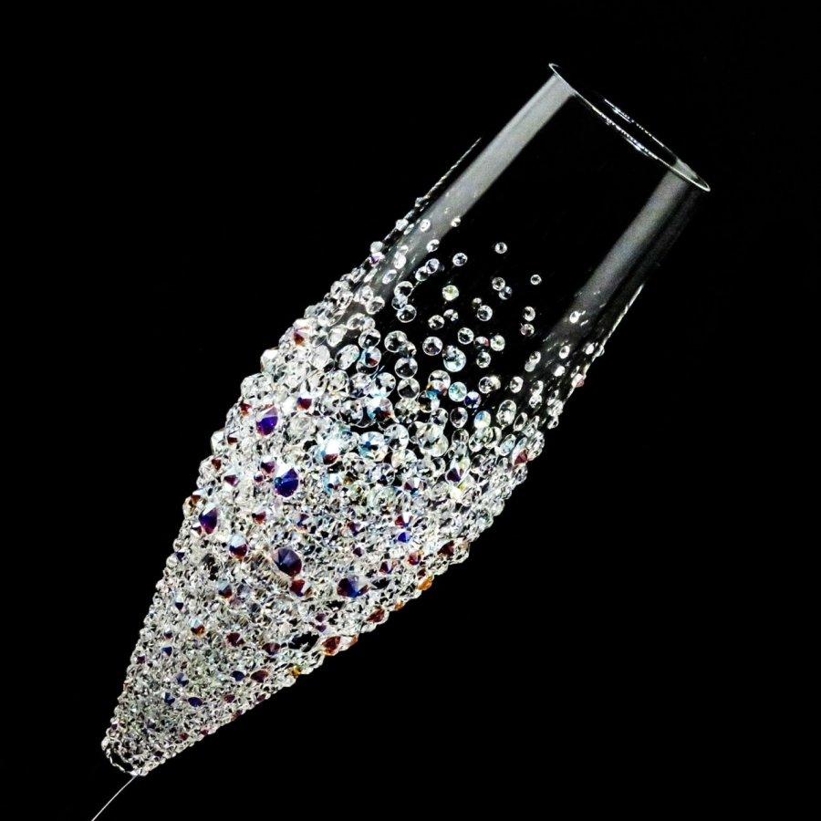 シャンパングラス バブルシャワー