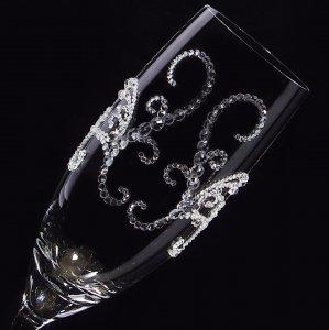 【シャンパングラス ティアラ】 結婚祝い 誕生日 プレゼント ギフト スワロフスキー デコグラス