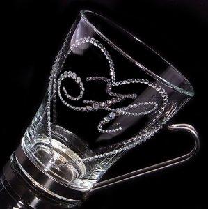 【マグカップ オープンハート&イニシャル】 結婚祝い 誕生日 プレゼント ギフト スワロフスキー デコグラス