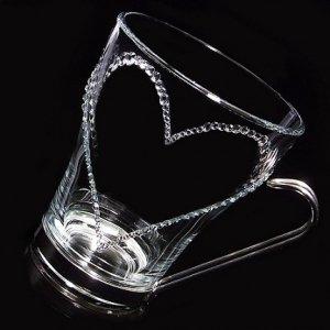 【マグカップ オープンハート】 結婚祝い 誕生日 プレゼント ギフト スワロフスキー デコグラス