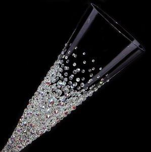 【スパークリング バブルシャワー】 結婚祝い 誕生日 プレゼント ギフト スワロフスキー デコグラス