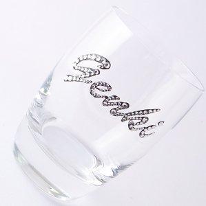 【タンブラー  ネームグラス クリスタル】 結婚祝い 誕生日 プレゼント ギフト スワロフスキー デコグラス