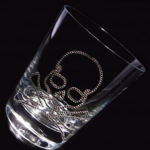 【ロックグラス  スカル】 結婚祝い 誕生日 プレゼント ギフト スワロフスキー デコグラス