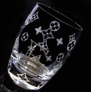 【タンブラー  モノグラム&イニシャル】 結婚祝い 誕生日 プレゼント ギフト スワロフスキー デコグラス