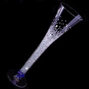 【シャンパングラス ジュエリー】 結婚祝い 誕生日 プレゼント ギフト スワロフスキー デコグラス