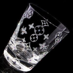 【ロックグラス  モノグラム】結婚祝い 誕生日 プレゼント ギフト スワロフスキー デコグラス