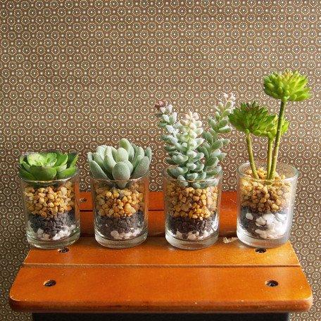 枯れない植物 フェイクグリーン4種セット インテリアグリーン