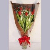 バラ花束 花瓶付き