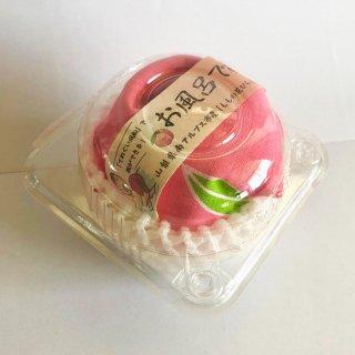 お風呂で桃狩り!「ももの花びらミニジャム付き桃てぬぐい」
