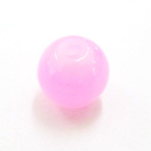 ガラス丸玉/8mm/不透明Pink/30個入/アクセサリーパーツ/ビーズ